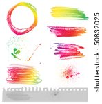 set of grungy elements | Shutterstock .eps vector #50832025