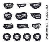 sale arrow tag icons. discount... | Shutterstock .eps vector #508320265