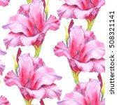 watercolor hand paint pink ... | Shutterstock . vector #508321141