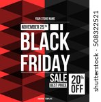 black friday sale design... | Shutterstock .eps vector #508322521