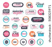 sale icons. special offer... | Shutterstock .eps vector #508325971