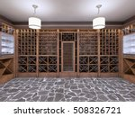 Wine Cellar In The Basement Of...