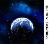 great illustration of earth... | Shutterstock . vector #50833348