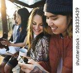 people friendship hangout... | Shutterstock . vector #508335439