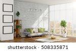 modern bright interior . 3d... | Shutterstock . vector #508335871