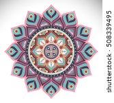 flower mandalas. vintage... | Shutterstock .eps vector #508339495