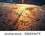 Fragment Of Onega Petroglyphs...