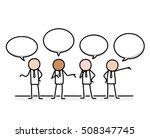 public relations communication... | Shutterstock .eps vector #508347745