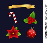 christmas icon vector set ... | Shutterstock .eps vector #508347949