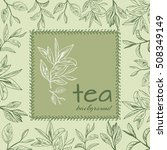 tea logo vector background with ... | Shutterstock .eps vector #508349149