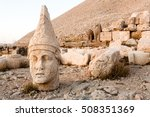 toppled heads of the gods on...   Shutterstock . vector #508351369