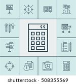set of project management icons ... | Shutterstock .eps vector #508355569