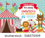 circus birthday invitation card | Shutterstock .eps vector #508370509