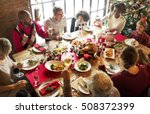 family together christmas... | Shutterstock . vector #508372399