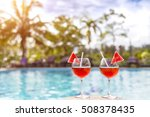 two beautiful cocktails or... | Shutterstock . vector #508378435
