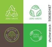vector logo design templates... | Shutterstock .eps vector #508383487
