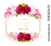 square floral vector frame with ... | Shutterstock .eps vector #508383655