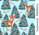 new year seamless pattern.... | Shutterstock . vector #508384321
