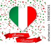 heart in colors of italian flag ... | Shutterstock .eps vector #508385281