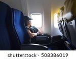 traveler women siting the seat... | Shutterstock . vector #508386019