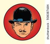 retro european sleuth spy or... | Shutterstock .eps vector #508387684