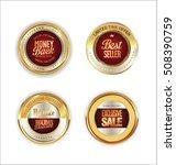 golden metal labels retro... | Shutterstock .eps vector #508390759