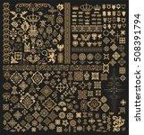 mega set of baroque elements | Shutterstock .eps vector #508391794