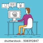 vector flat linear illustration ...   Shutterstock .eps vector #508392847