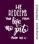 he redeems your life from the... | Shutterstock .eps vector #508396015
