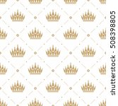 seamless pattern in retro style ... | Shutterstock .eps vector #508398805