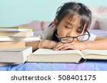 asian child sleeping while... | Shutterstock . vector #508401175