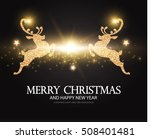 shining christmas card template ... | Shutterstock .eps vector #508401481