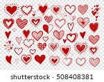 collection of red doodle sketch ... | Shutterstock .eps vector #508408381