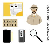 vector illustration detective... | Shutterstock .eps vector #508411264