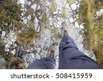 hiking.woman legs with hiking...   Shutterstock . vector #508415959