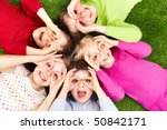 image of funny kids playing on... | Shutterstock . vector #50842171