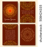 ornate vintage pages with... | Shutterstock . vector #508424335