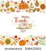 thanksgiving poster or greeting ... | Shutterstock .eps vector #508425001