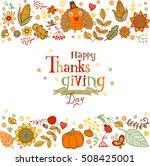 thanksgiving poster or greeting ...   Shutterstock .eps vector #508425001