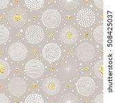 seamless christmas background... | Shutterstock .eps vector #508425037