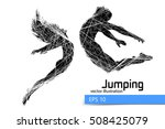 silhouette of a jumping man and ... | Shutterstock .eps vector #508425079