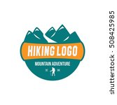 adventure logo  climbing ... | Shutterstock .eps vector #508425985