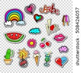 big set of girl fashion comics...   Shutterstock .eps vector #508426057