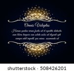 ornate frame with golden swirls ... | Shutterstock . vector #508426201