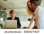 team of colleagues working...   Shutterstock . vector #508427407