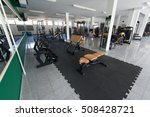 modern gym room fitness center...   Shutterstock . vector #508428721