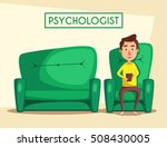 patient talking to psychologist.... | Shutterstock .eps vector #508430005