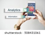 data information analytics... | Shutterstock . vector #508431061