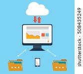 computer device data cloud... | Shutterstock .eps vector #508435249