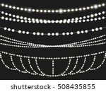 christmas light string... | Shutterstock .eps vector #508435855